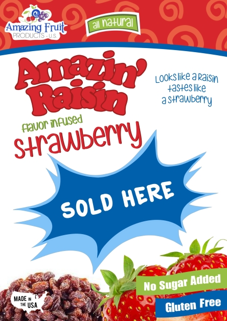 Strawberry Display Poster