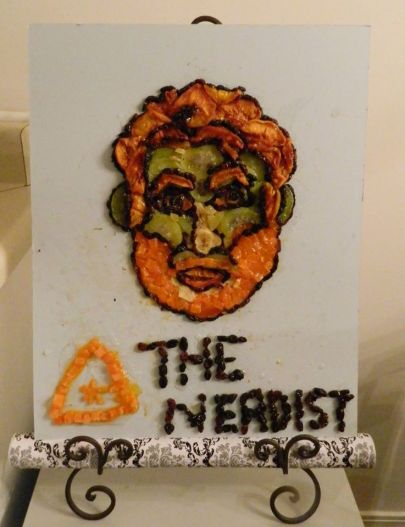 #114 - IMAGE: Let's see a portrait of Chris Hardwick from the Nerdist.com made from dried fruit.