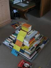 #140 - IMAGE: Recreate a recognizable piece of architecture or a landmark using only books. Bonus points for size.